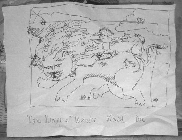 Mane Menagerie - Sketch 1