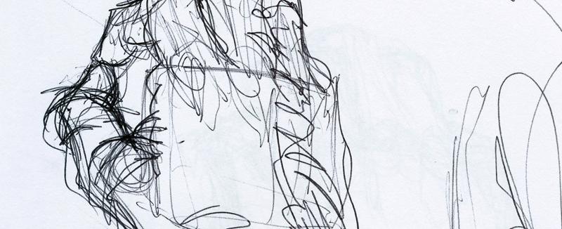 Model - hands sketch I - banner
